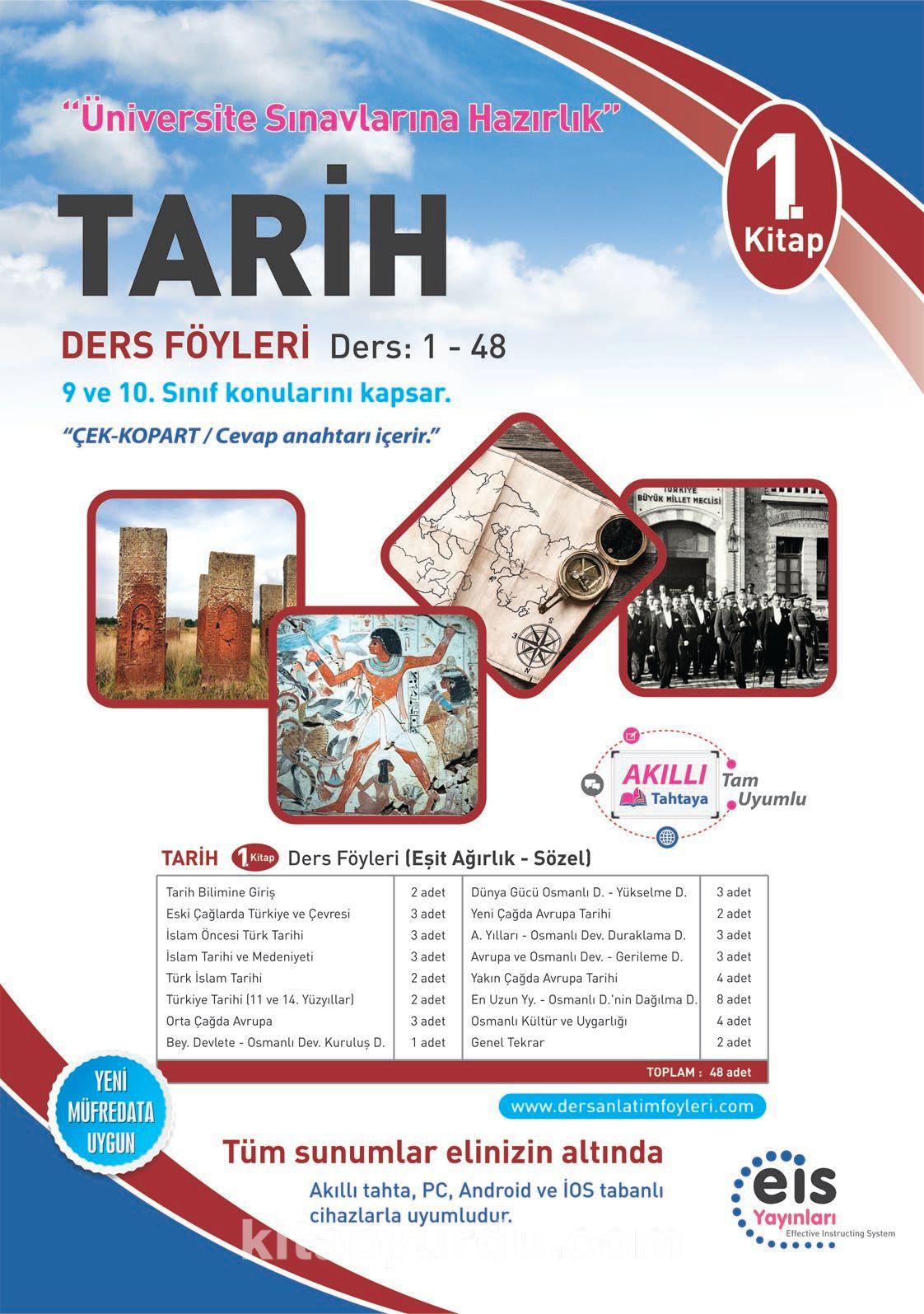 Tarih 1. Kitap Ders Föyleri Ders:1-48 (9 ve 10. Sınıf Konuları) - Kollektif pdf epub