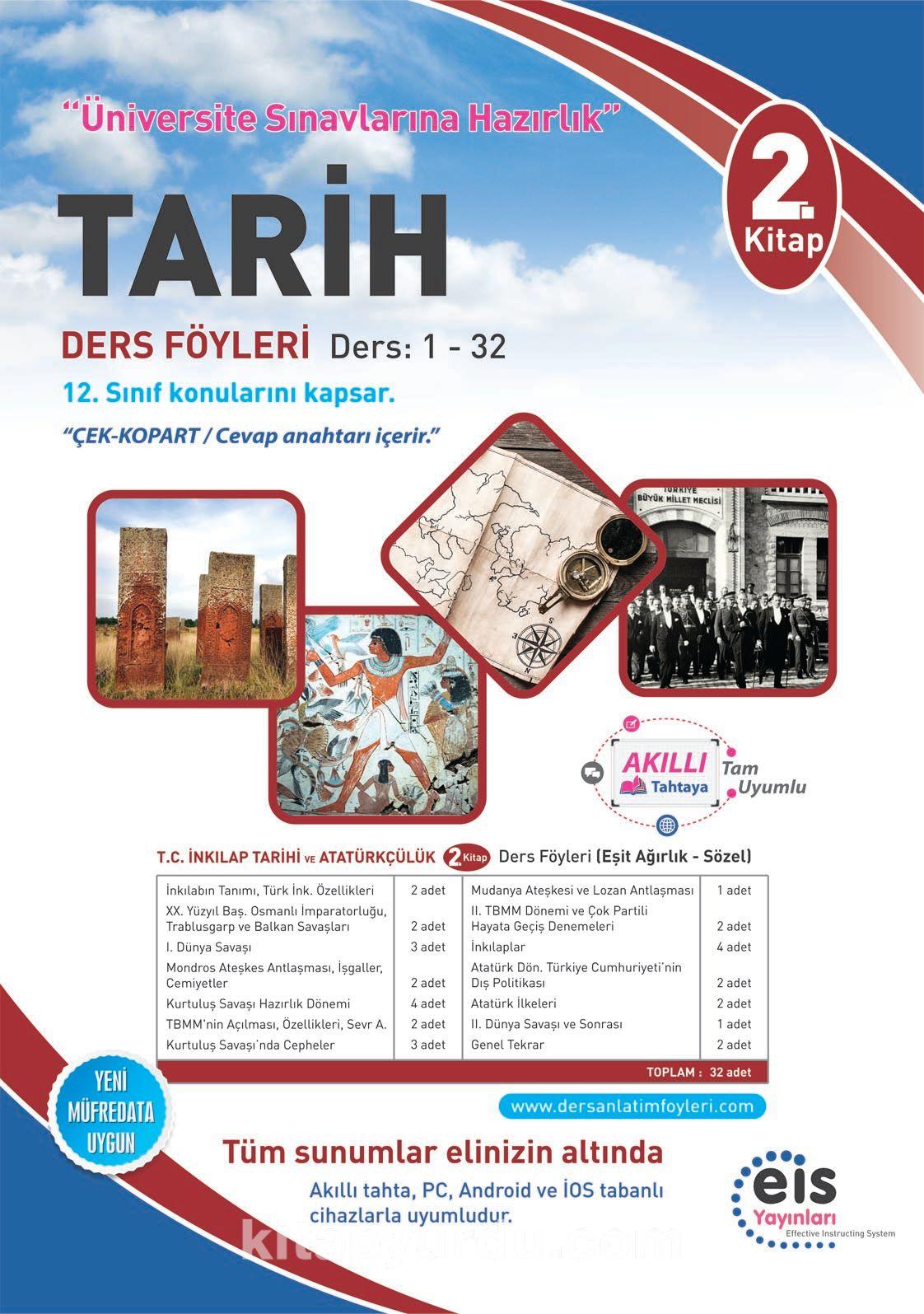 Tarih 2. Kitap Ders Föyleri Ders:1-32 (12. Sınıf Konuları) - Kollektif pdf epub