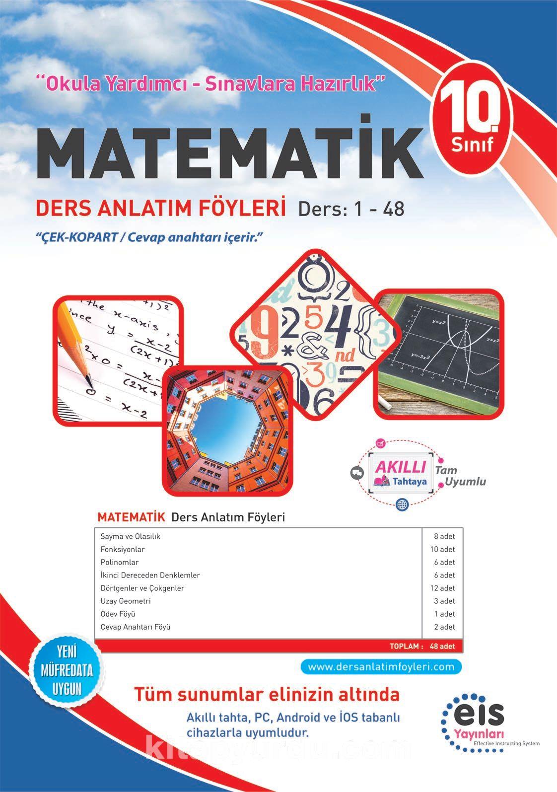 10. Sınıf Matematik Ders Anlatım Föyleri Ders:1-48