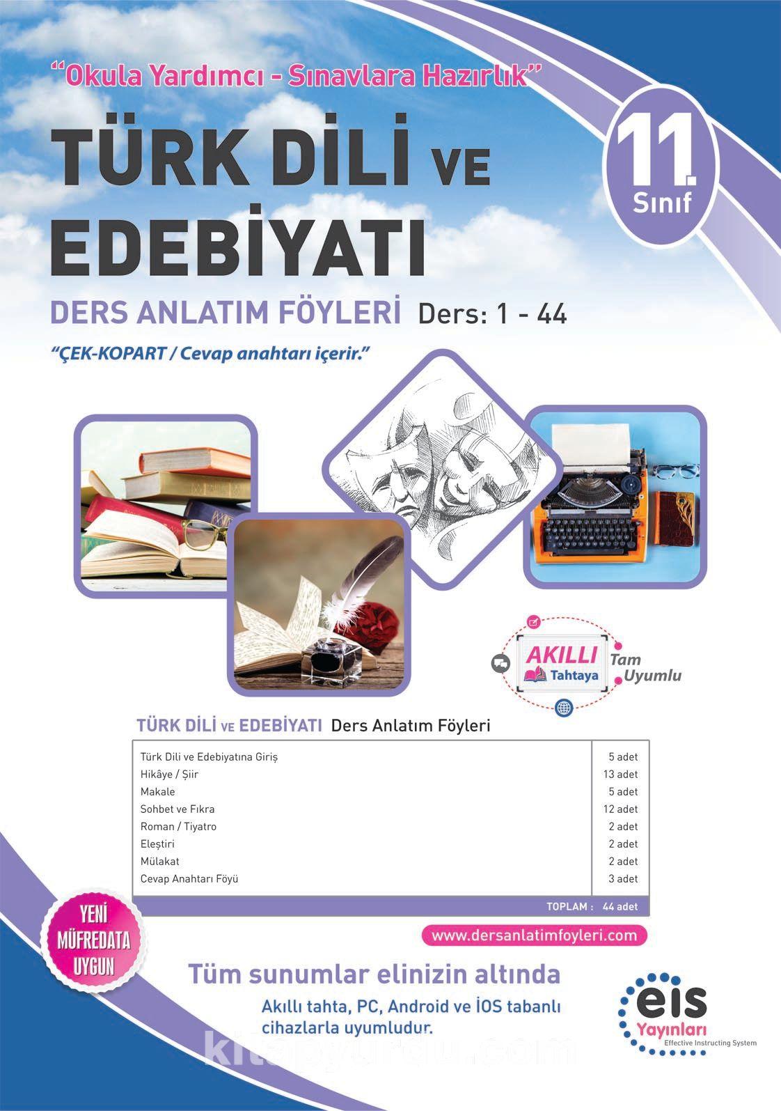 11. Sınıf Türk Dili ve Edebiyatı Ders Anlatım Föyleri Ders:1-44 - Kollektif pdf epub