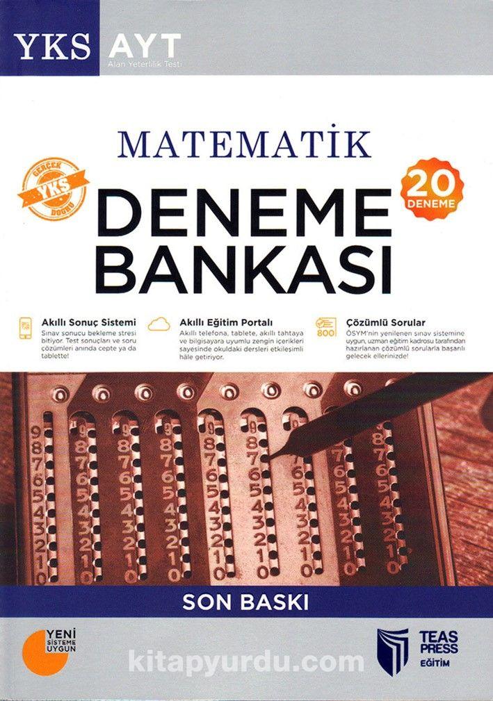 YKS-AYT Matematik Deneme Bankası Son Baskı (20 Deneme)