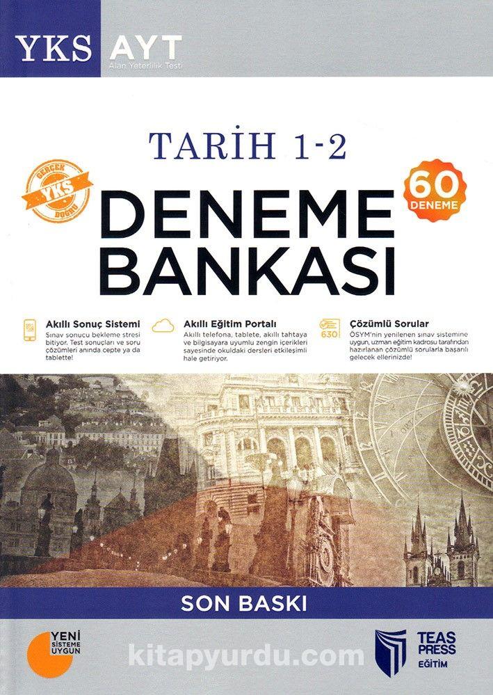 YKS-AYT Tarih 1-2 Deneme Bankası Son Baskı (60 Deneme) - Kollektif pdf epub