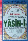 İri Yazılı Arapça-Türkçe Okunuşlu Yasin-i Şerif Kur'an'dan Seçme Sureler (Mavi) (Kod:E27)