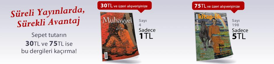 """30TL ve Üzeri Alışverişinize """"Muhayyel Dergisi Sayı:4 Ağustos 2018"""" Sadece 1TL"""