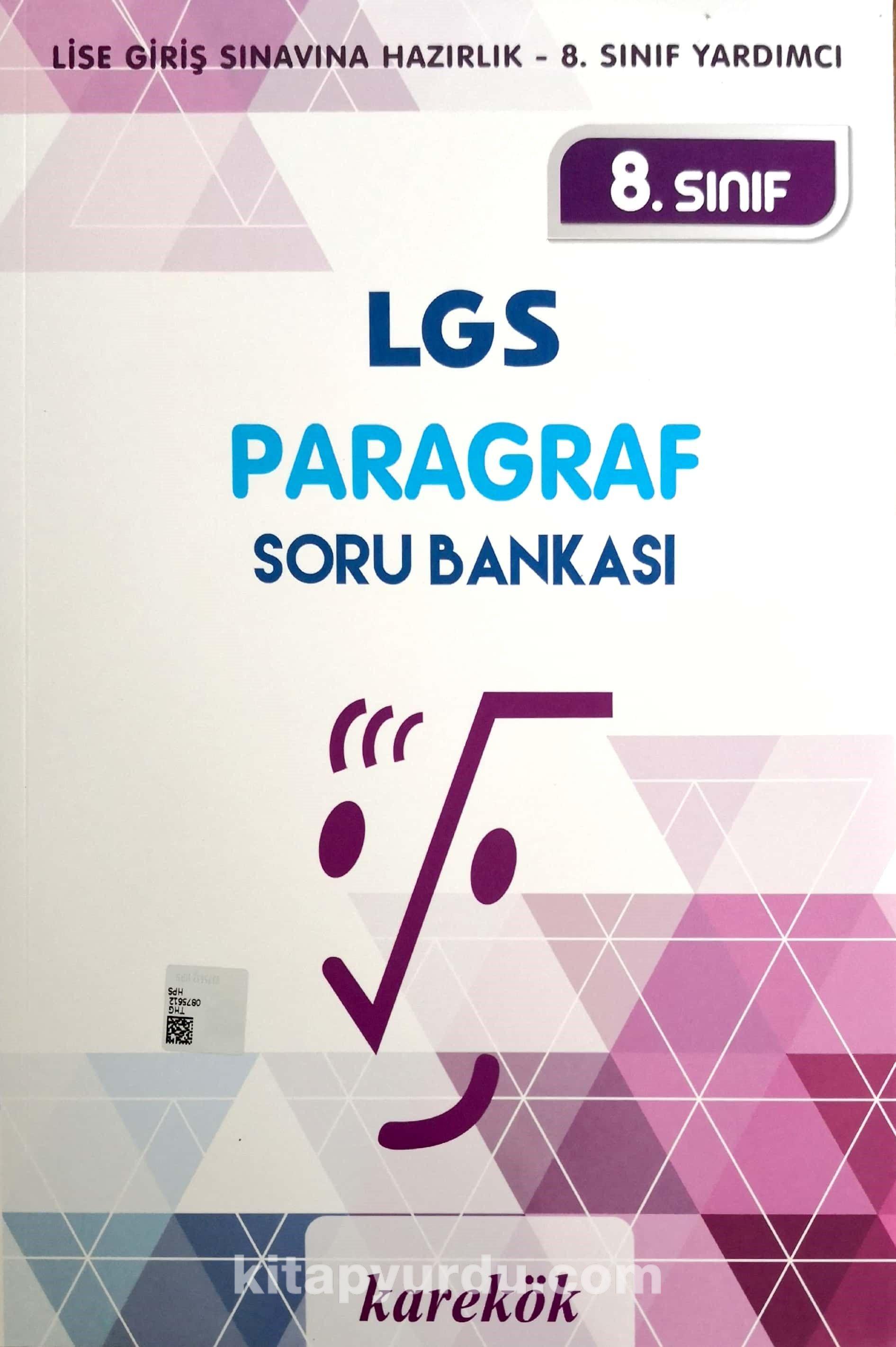 8. Sınıf LGS Paragraf Soru Bankası - Kollektif pdf epub