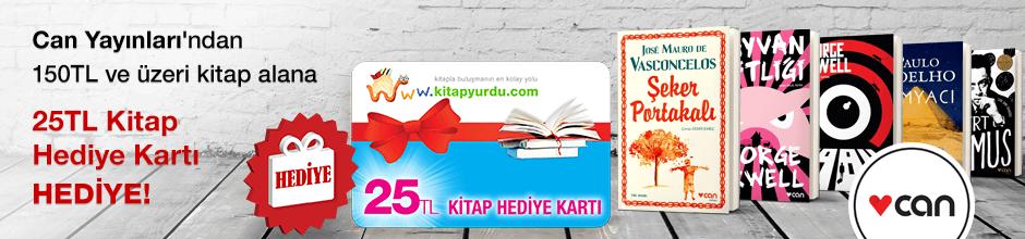 Can Yayınları'ndan 150TL ve üzeri kitap alana ''Kitap Hediye Kartı (25 TL)'' Hediye...