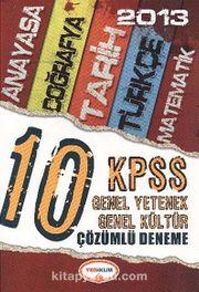 2013 KPSS Genel Yetenek-Genel Kültür 10 Çözümlü Deneme