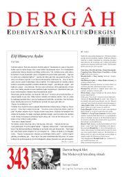 Dergah Edebiyat Sanat Kültür Dergisi Sayı:343 Eylül 2018