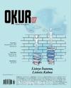Okur Kitap Dergisi Sayı 7 Eylül-Ekim-Kasım 2018