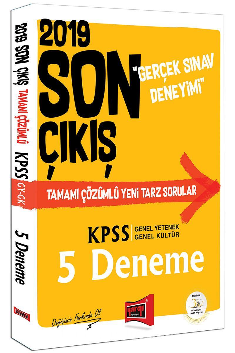 2019 KPSS Genel Yetenek Genel Kültür Son Çıkış Tamamı Çözümlü 5 Deneme - Kollektif pdf epub