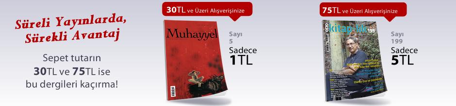 """30TL ve Üzeri Alışverişinize """"Muhayyel Dergisi Sayı:5 Eylül 2018"""" Sadece 1TL"""