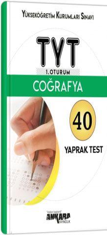 YKS TYT 1. Oturum Coğrafya 40 Yaprak Test