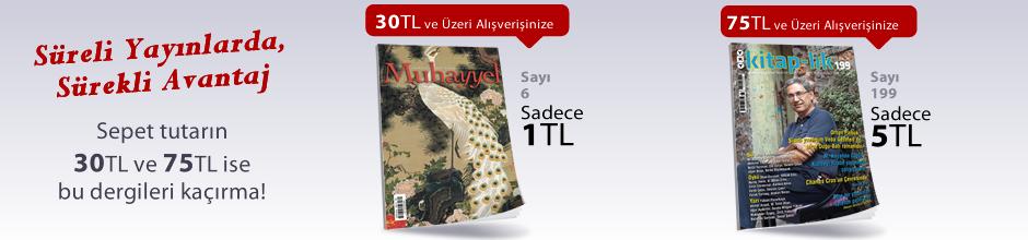 """30TL ve Üzeri Alışverişinize """"Muhayyel Dergisi Sayı:6 Ekim 2018"""" Sadece 1TL"""