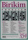 Birikim Aylık Sosyalist Kültür Dergisi Sayı:354 Ekim 2018