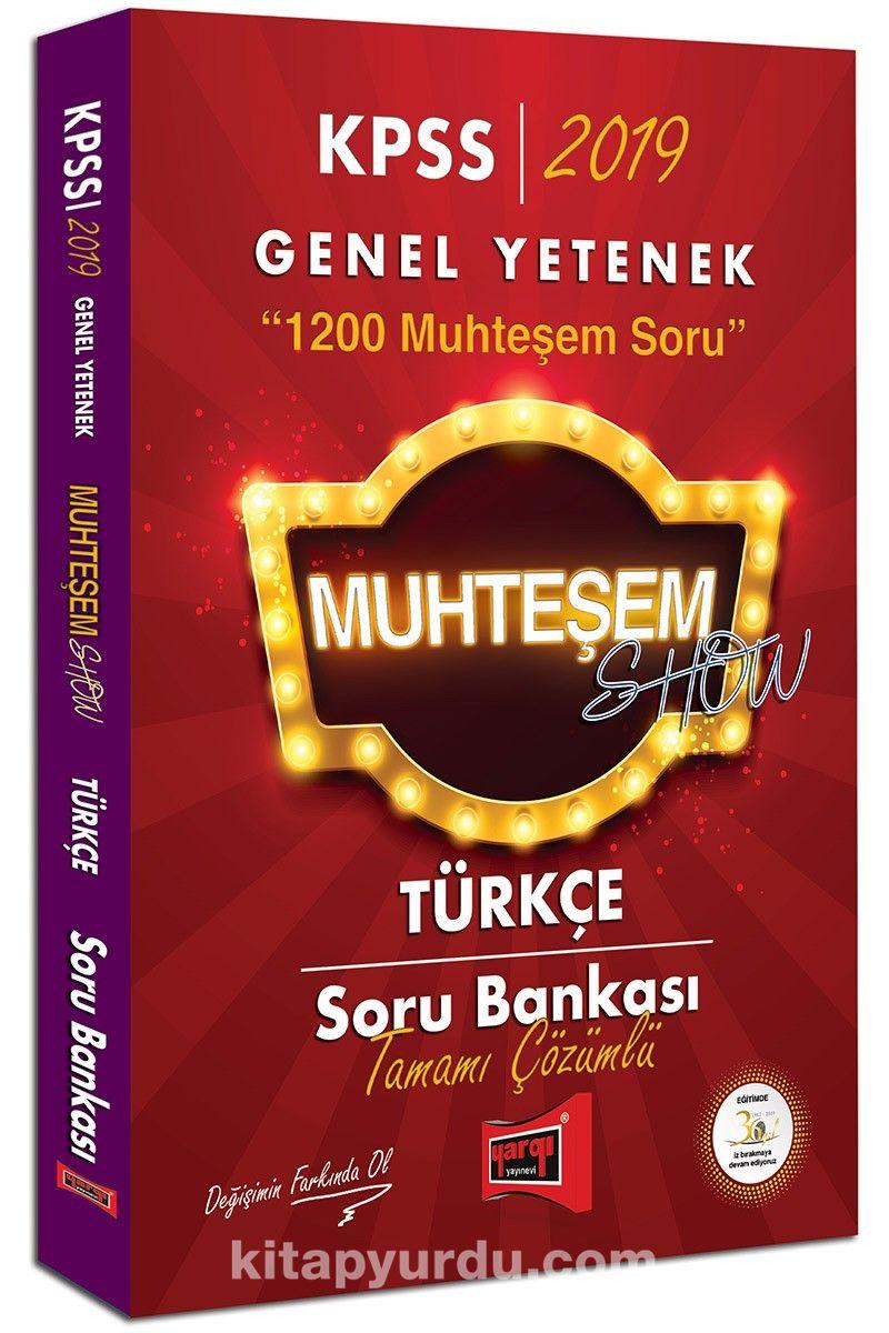 2019 KPSS Muhteşem Show Türkçe Tamamı Çözümlü Soru Bankası - Kollektif pdf epub