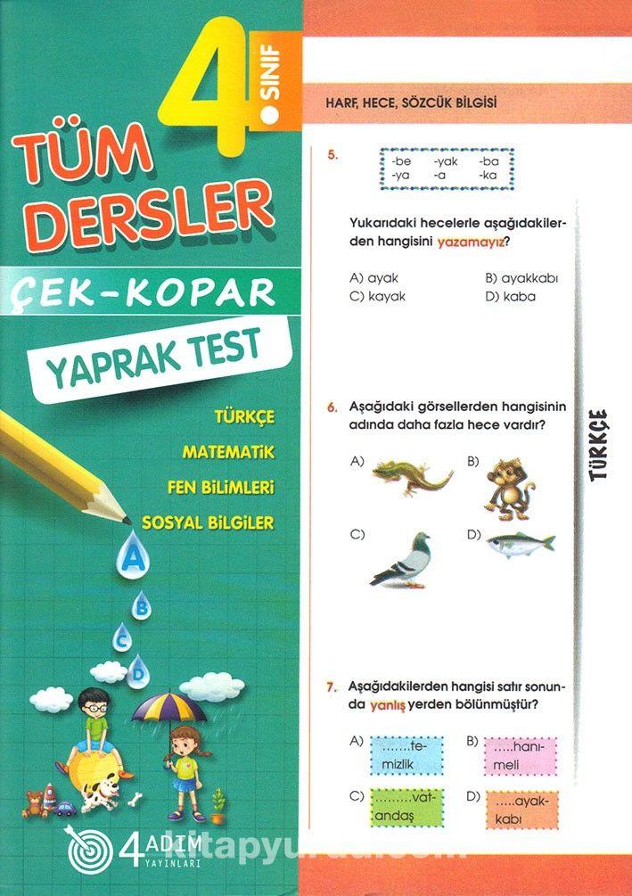 4. Sınıf Tüm Dersler Çek-Kopar Yaprak Test - Kollektif pdf epub