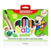 Fibracolor Pastel Boya 12 Renk Yıkanabilir