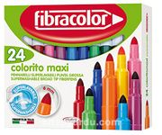 Fibracolor Color Maxı Yıkanabilir Jumbo Keçeli Kalem 24 Renk