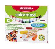 Fibracolor Color Maxı Yıkanabilir Jumbo Keçeli Kalem 12 Renk