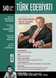 Türk Edebiyatı Aylık Fikir ve Sanat Dergisi Ekim 2018 Sayı: 540