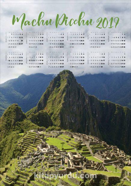 2019 Takvimli Poster - Yüksekler - Machu-Picchu