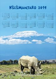 2019 Takvimli Poster - Yüksekler - Klimanjaro