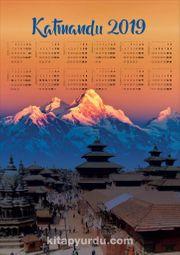 2019 Takvimli Poster - Yüksekler - Katmandu