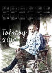 2019 Takvimli Poster - Yazarlar - Tolstoy