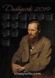 2019 Takvimli Poster - Yazarlar - Dostoyevski