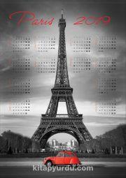 2019 Takvimli Poster - Şehirler - Paris