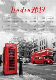 2019 Takvimli Poster - Şehirler - London - Sokak