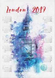 2019 Takvimli Poster - Şehirler - London - Big Ben
