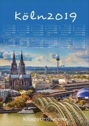 2019 Takvimli Poster - Şehirler - Köln
