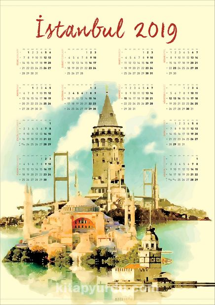 2019 Takvimli Poster - Şehirler - İstanbul