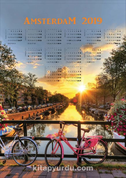 2019 Takvimli Poster - Şehirler - Amsterdam