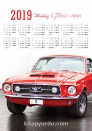 2019 Takvimli Poster - Arabalar Mustang