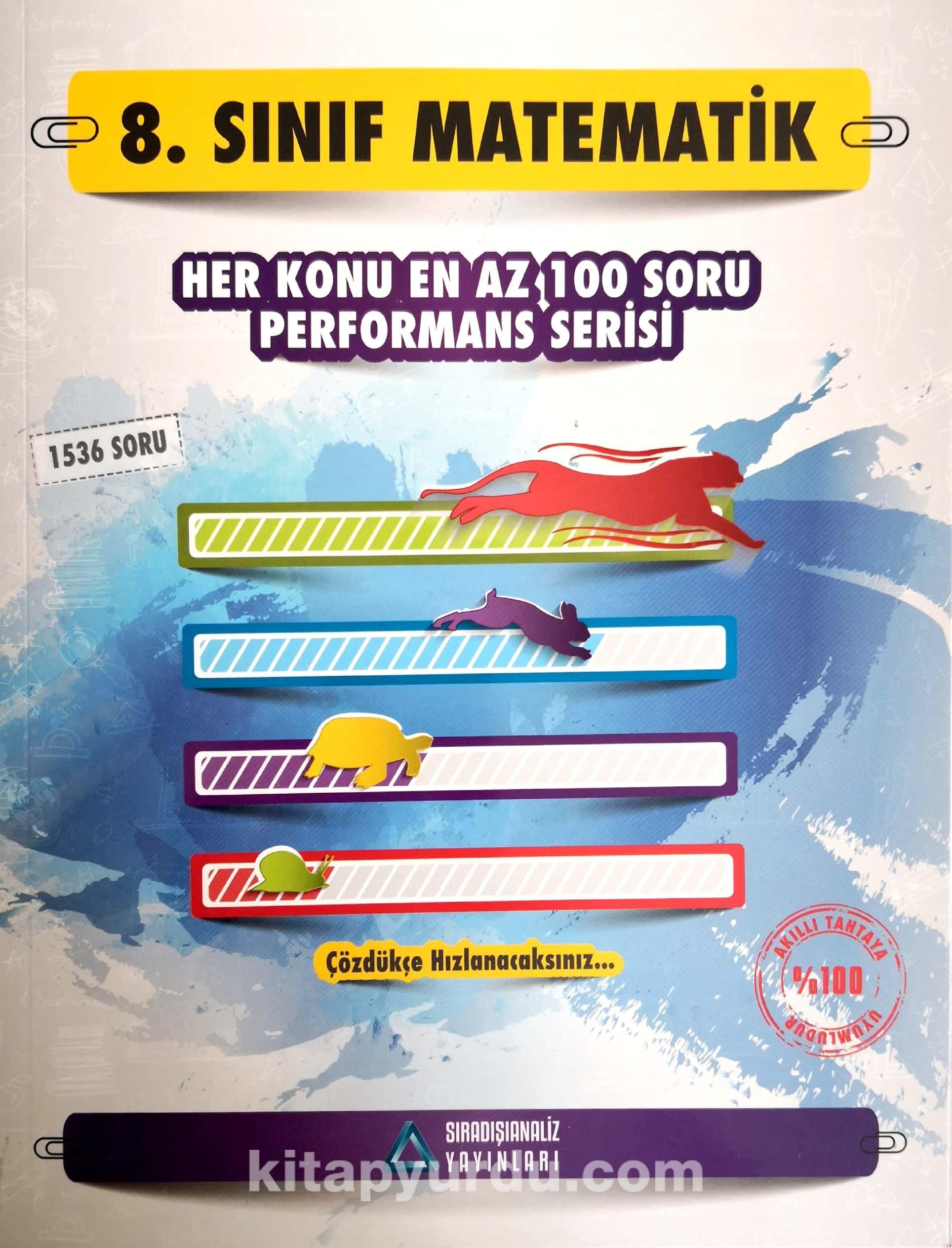 8. Sınıf Matematik Performans Serisi Soru Bankası