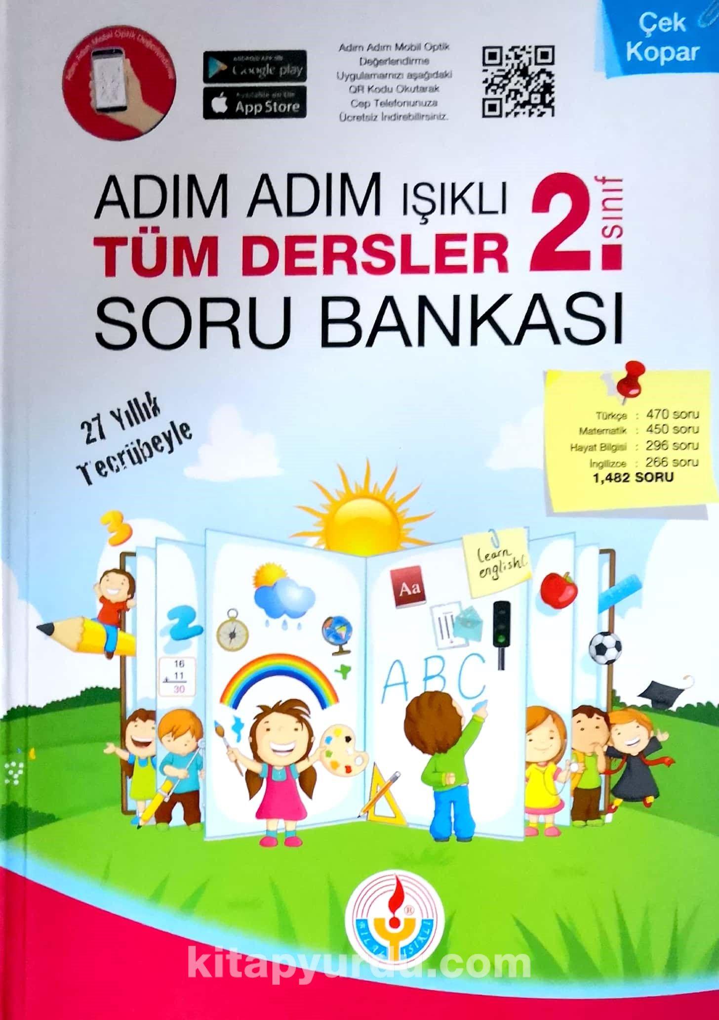2. Sınıf Adım Adım Işıklı Tüm Dersler Soru Bankası