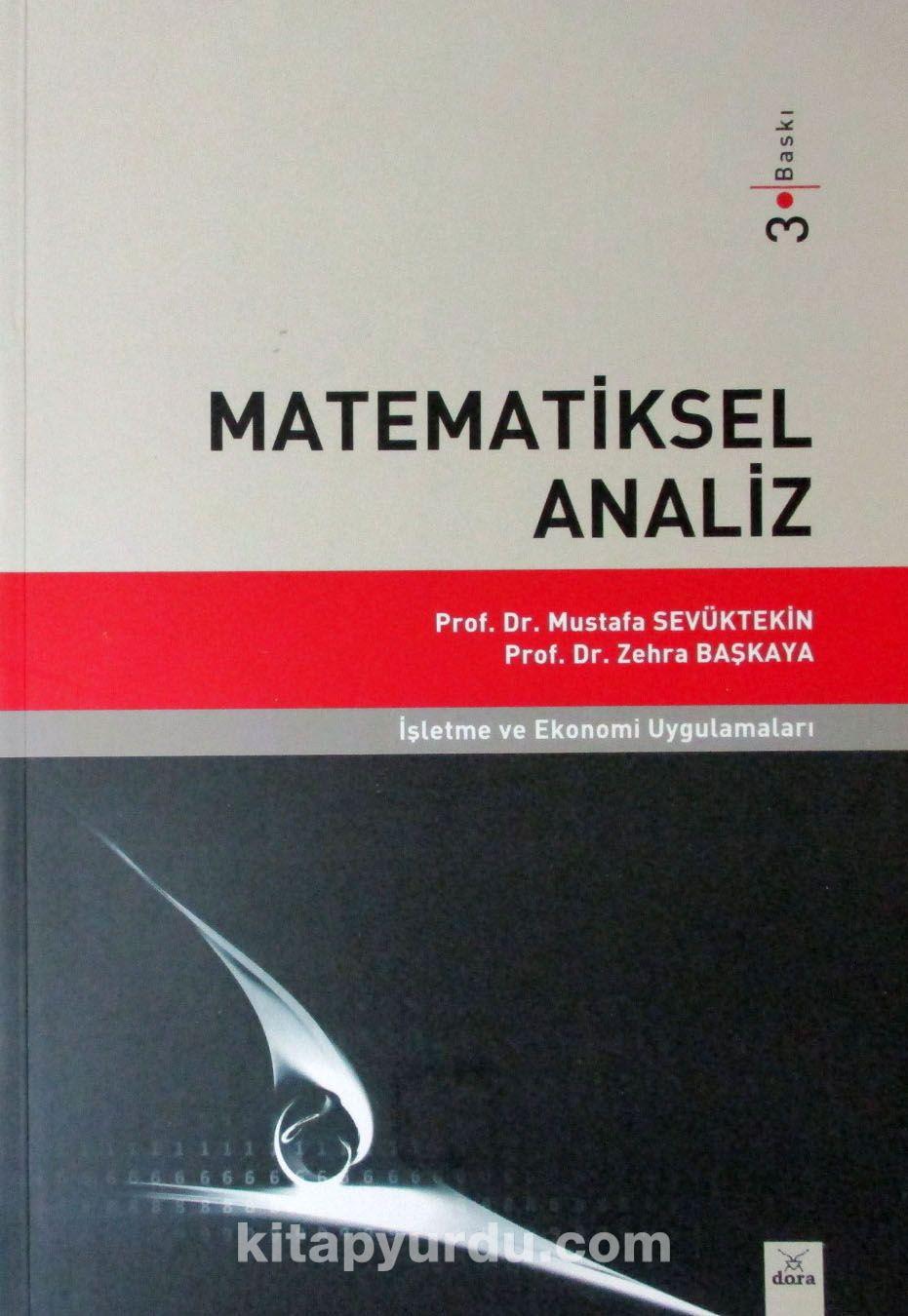 Matematiksel Analizİşletme ve Ekonomi Uygulamaları