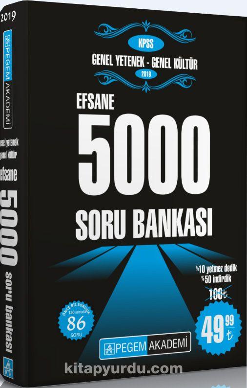 2019 KPSS Genel Yetenek Genel Kültür Efsane 5000 Soru Bankası