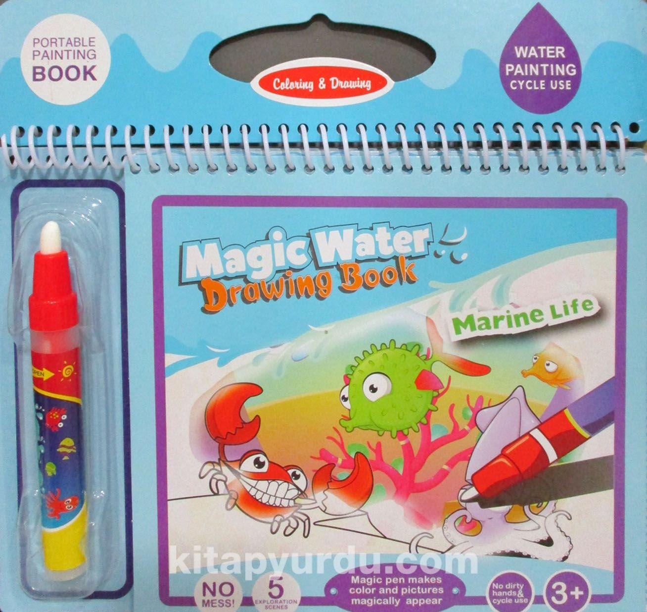 Sihirli Boyama Kitabi Ozel Kalemi Magic Water Deniz Dunyasi Deniz