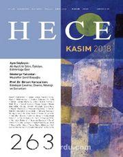 Sayı:263 Kasım 2018 Hece Aylık Edebiyat Dergisi