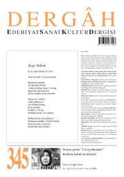 Dergah Edebiyat Sanat Kültür Dergisi Sayı:345 Kasım 2018