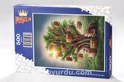 Kitap Ağacı Ahşap Puzzle 500 Parça (KT12-D)