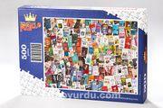 Kitap Kolaj Ahşap Puzzle 500 Parça (KT14-D)