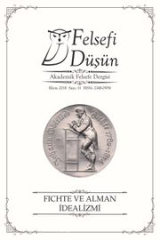 Felsefi Düşün Akademik Felsefe Dergisi Sayı:11 Fichte ve Alman İdealizmi