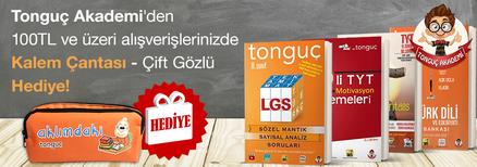 """Tonguç Akademi'den 100TL ve Üzeri Alışverişlerinizde """"Kalem Çantası Çift Gözlü (Turuncu)"""" Hediye!"""