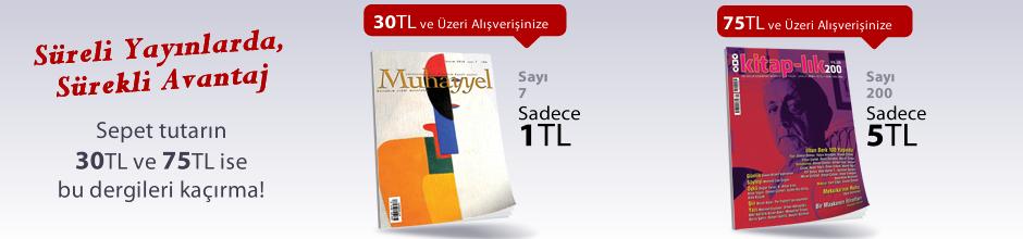 """30TL ve Üzeri Alışverişinize """" Muhayyel Dergisi Sayı:7 Kasım 2018"""" Sadece 1TL"""