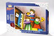 Çocuk Trio (Sürpriz Parçalı) Ahşap Puzzle 500 Parça (CK12-D)