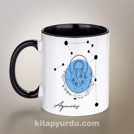Porselen Kupa - Burçlar Serisi - Kova